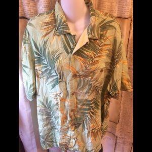 EUC-Tommy Bahama Silk Shirt-Size L